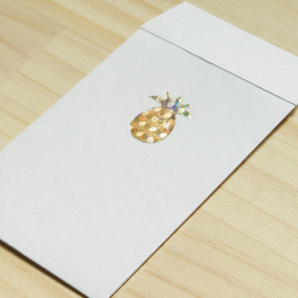 【パイナップル】ハッピーモチーフポチ袋 PHM10-2