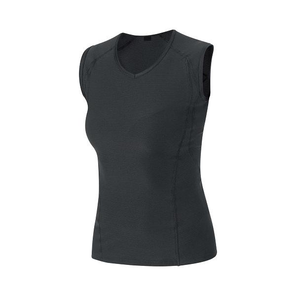 【20%OFF】GORE(ゴア) ウィメンズ BASE LAYER SLEEVELESS SHIRT M ベース レイヤー スリーブレス シャツ  BLACK(ブラック)1000179900