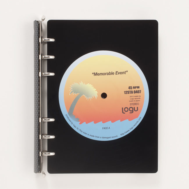 レコード盤がノートに!いつでも音楽なあなたへ。Logu Recording Note 011_C