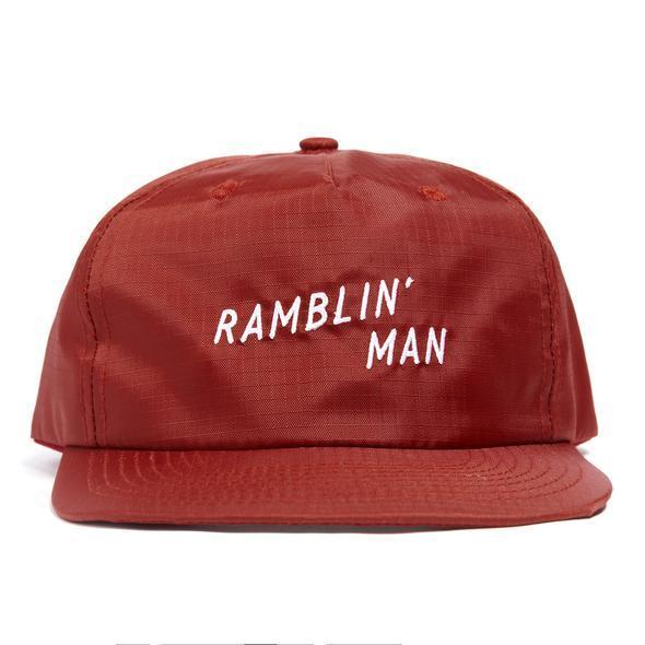 SEAGER #Ranblin'Man Rip Stop Nylon Snapback Brick Red