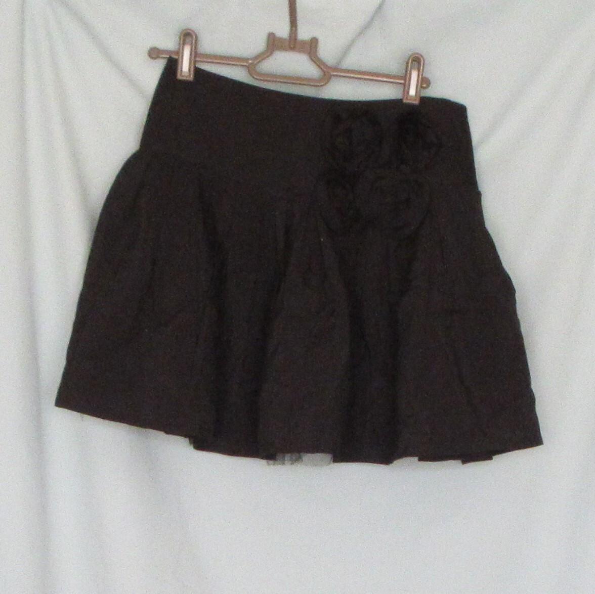 ミニスカート フラワーモチーフバラ 中古 Mサイズ 中国製