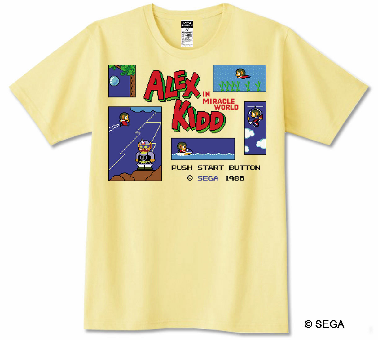 ALEX KIDD in Miracle World Tシャツ / GAMES GLORIOUS