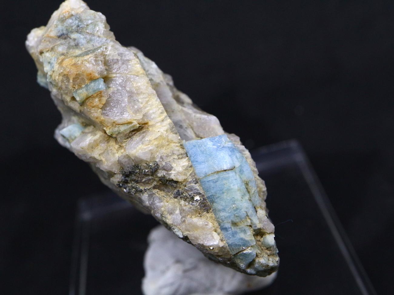 ブルーベリルアクアマリン カリフォルニア産  35,3g 原石 AQ055 鉱物 原石 天然石 パワーストーン