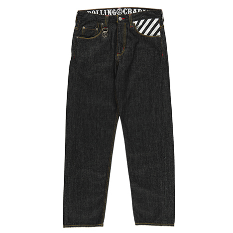 【送料無料】ROLLING CRADLE(ロリクレ) | THUNDER GATE BAGGY DENIM / Black