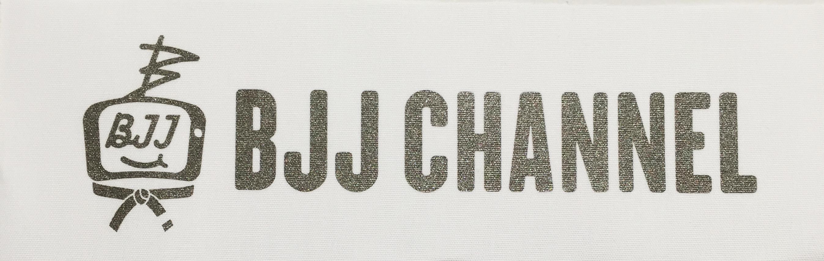 送料無料!!! BJJ チャンネルパッチ 横長 カラー白地にガンメタ