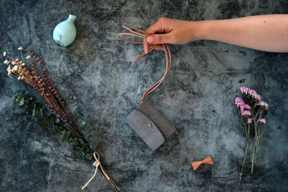 アラスカ_グレー◆外装◆あかちゃん財布◆三つ折り