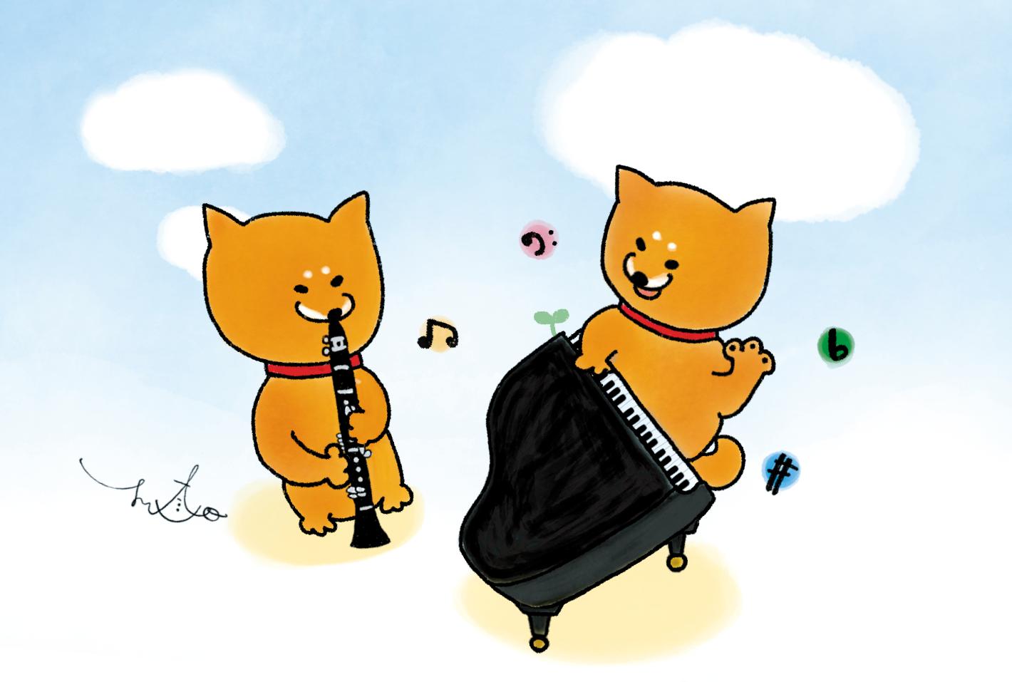 柴犬ラク ポストカード(Shi-Ba)