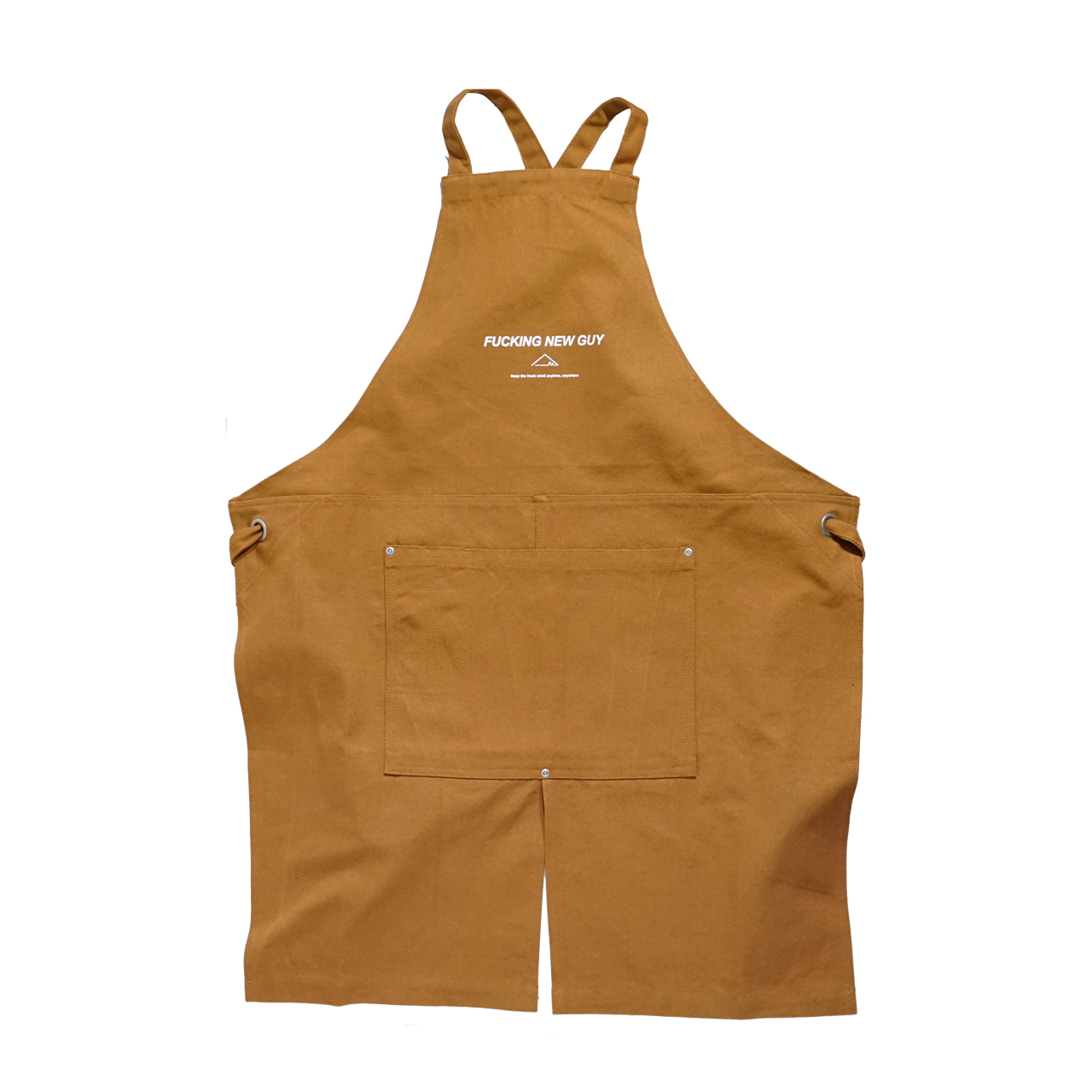 F.N.G /canvas apron (Camel×White) - 画像1