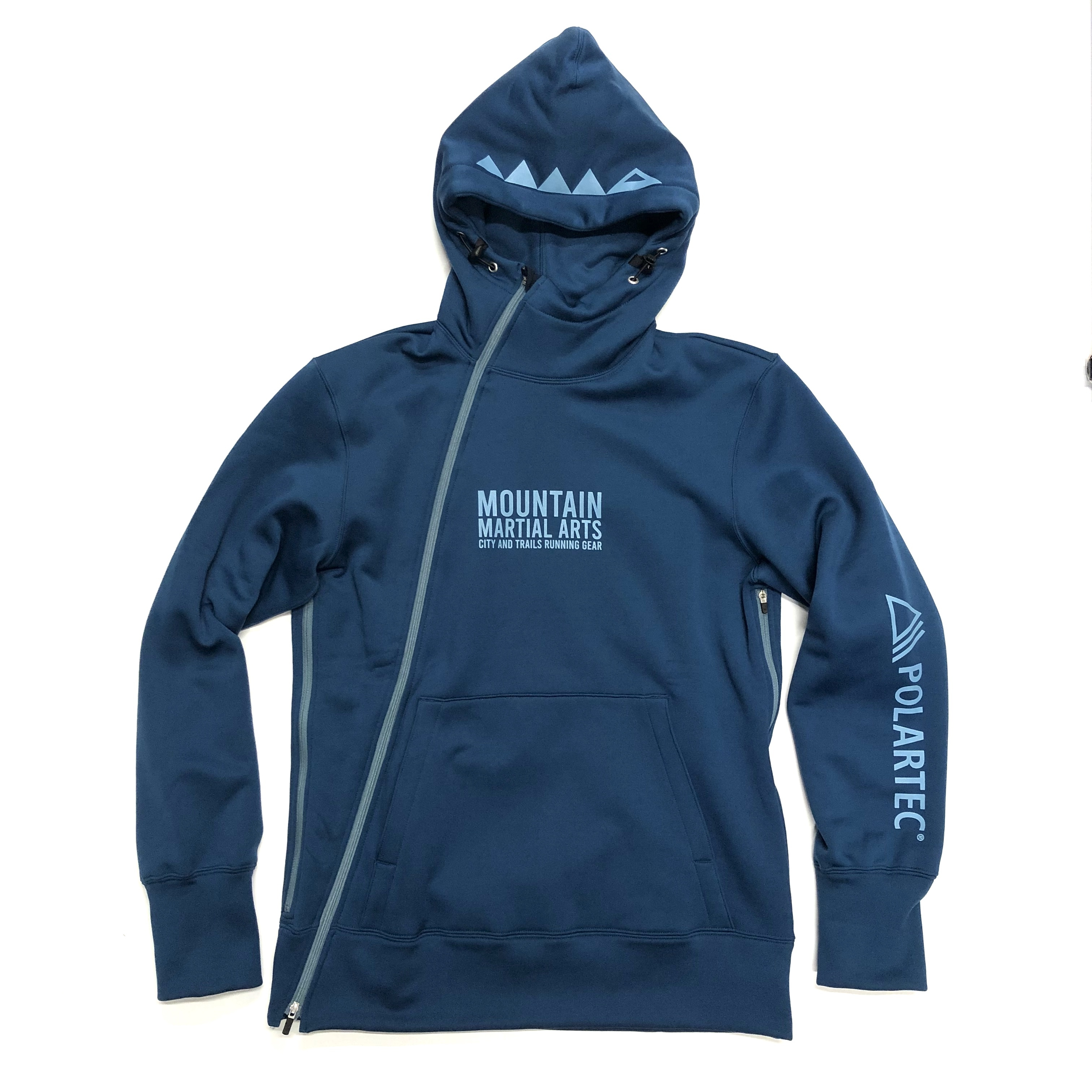 Mountain Martial Arts / MMA POLARTEC®︎ PSP Slant Zip Hoodie 《Sea Navy》