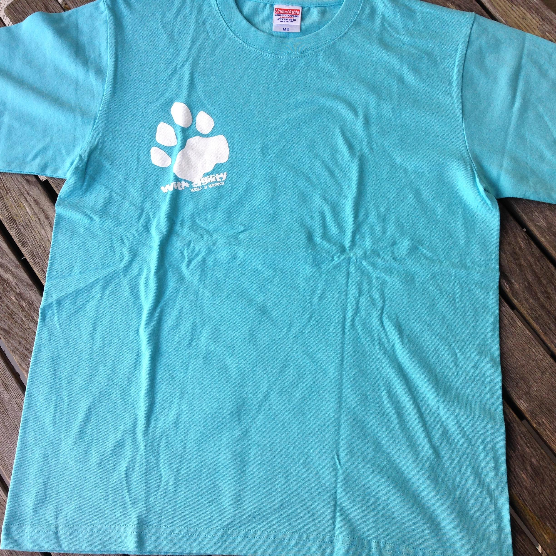 雪豹Tシャツ アクアブルー