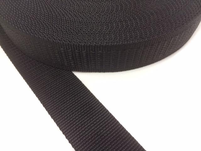 PP 段織 38㎜幅 黒 1mカット