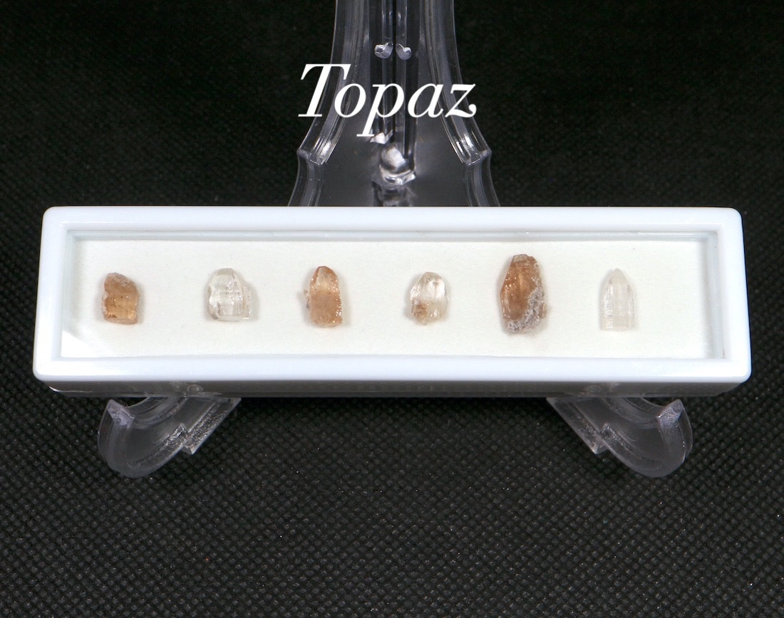 【鉱物標本セット】トパーズ ユタ州産 ラクタングル#6 原石 宝石 天然石 TZ056 鉱物セット