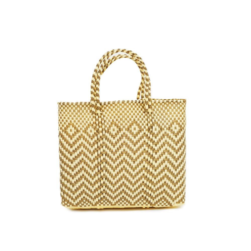 MERCADO BAG JAGGY - Gold x Cream (XS)