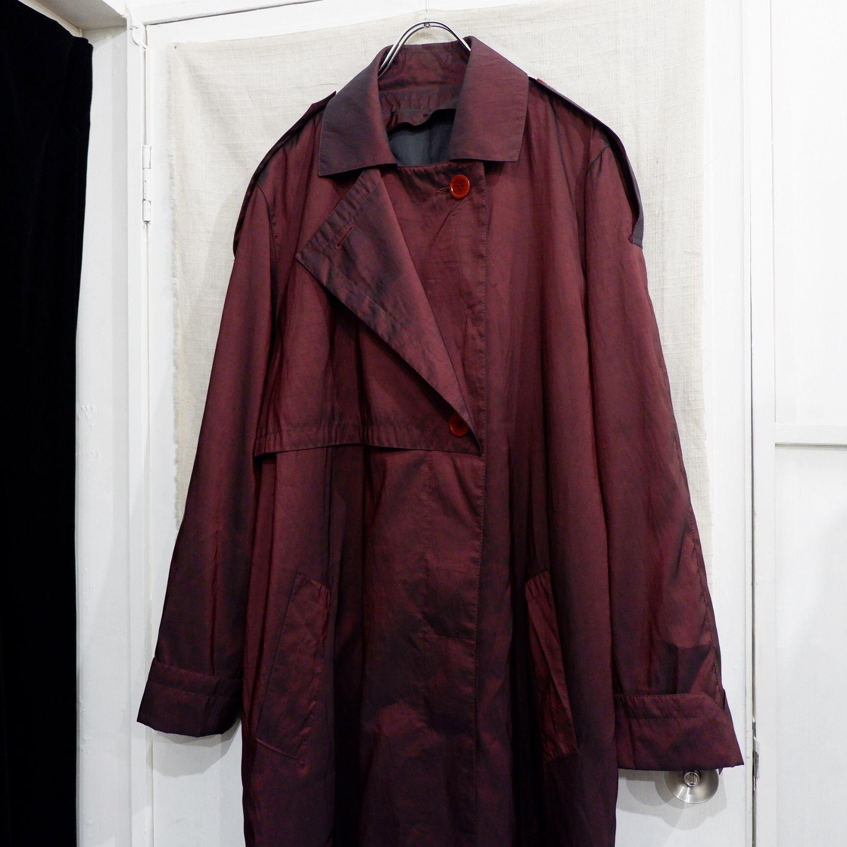 アメリカ古着 玉虫色 変形デザインコート
