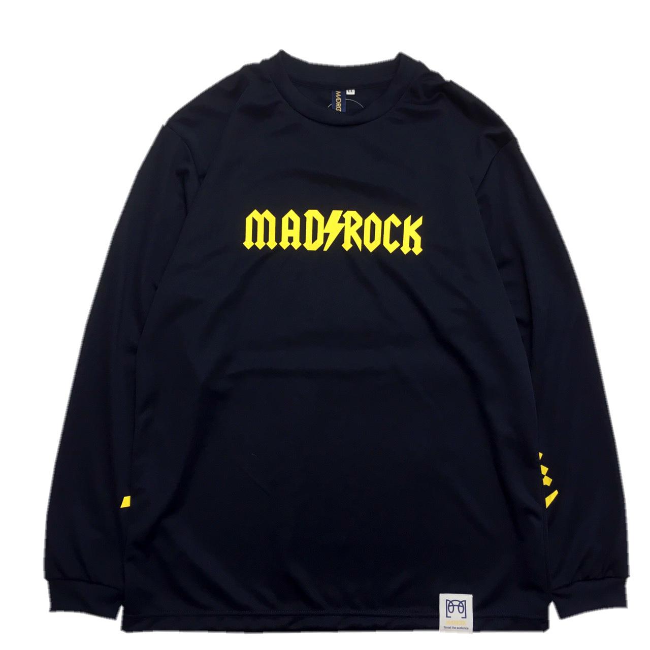 マッドロック / AMPERE(アンペア) LOGO ロンT / ドライタイプ / ネイビー
