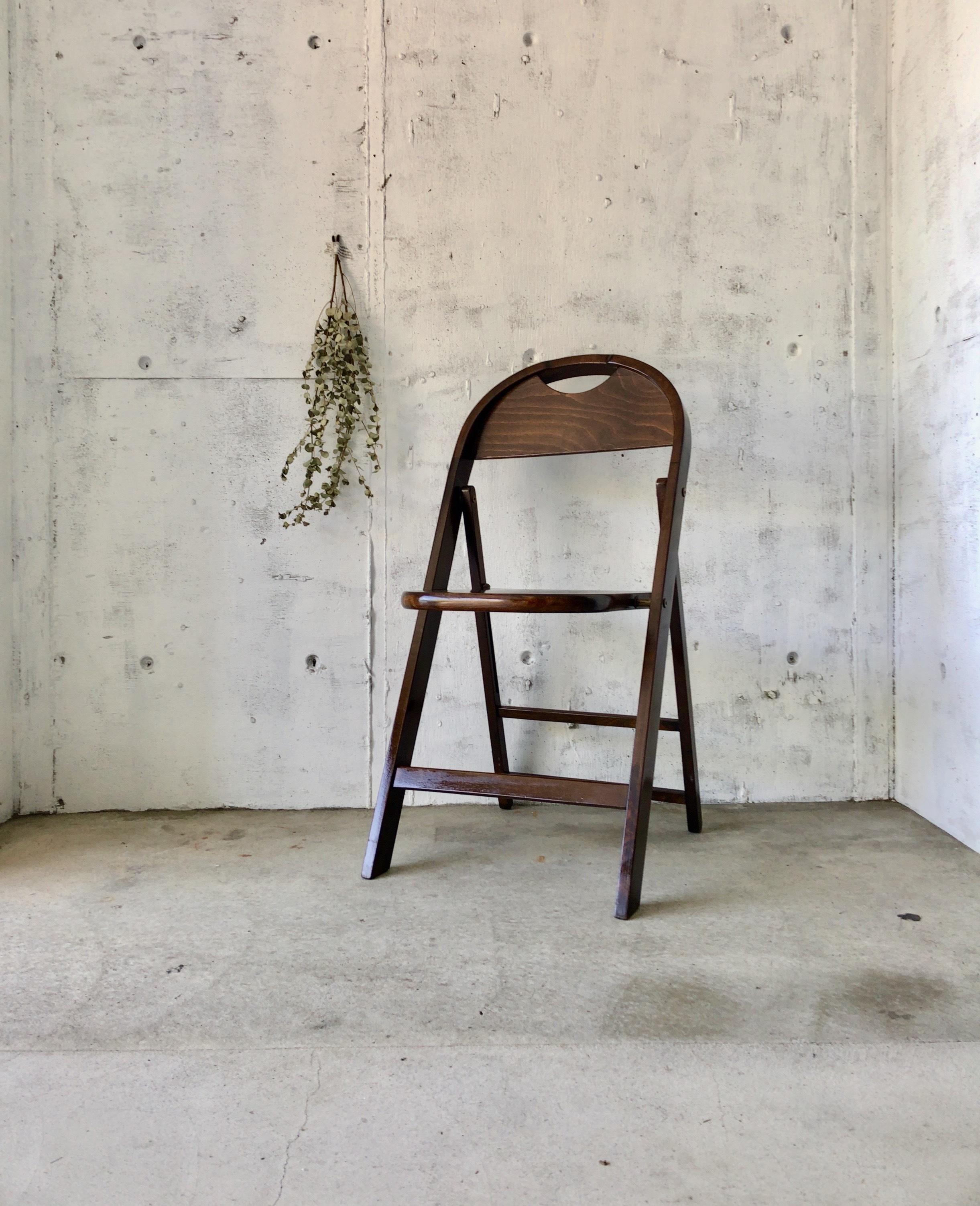 木製の折りたたみチェア[古家具]