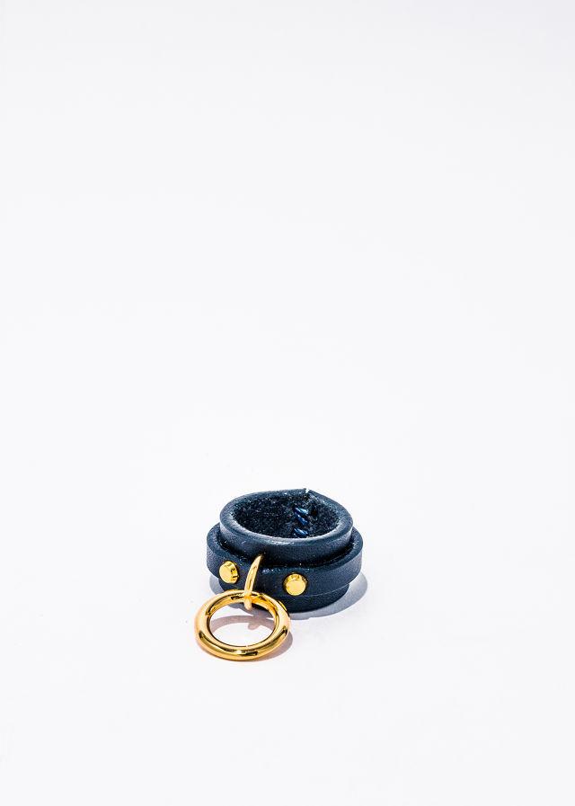 nahezu≒gleich / SID Ring navy / gold - 画像1