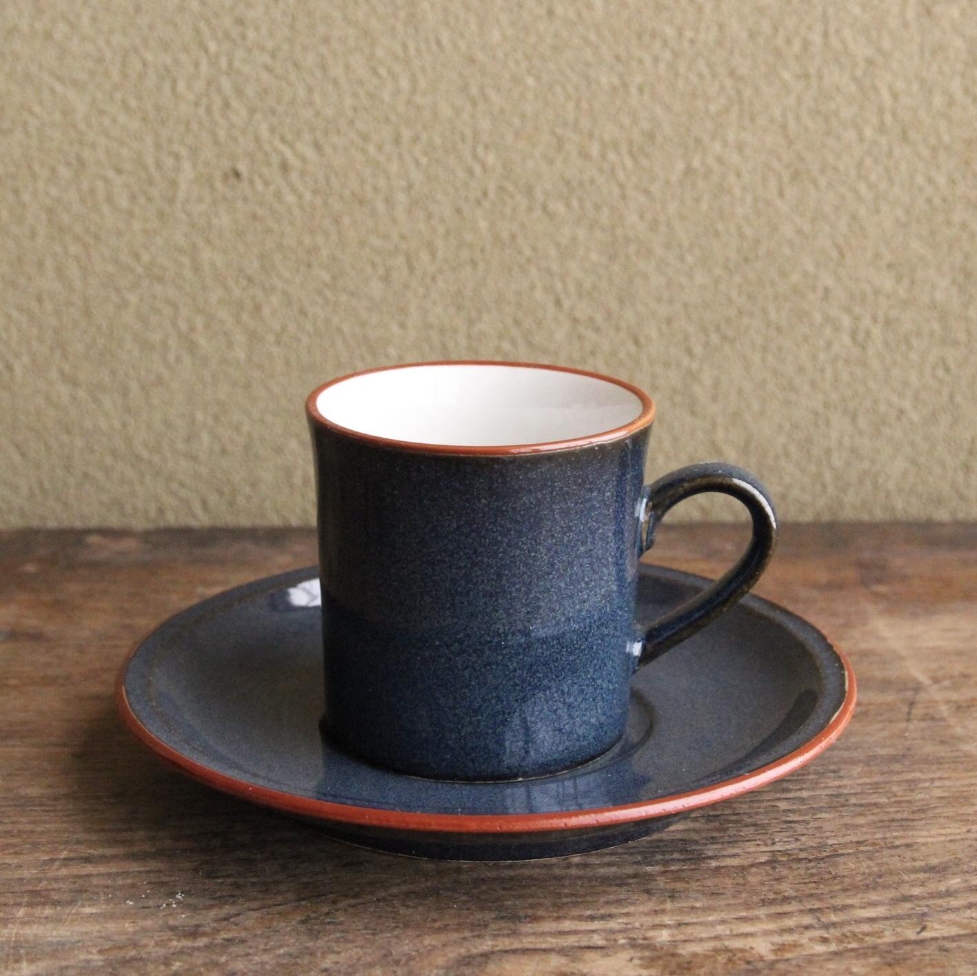 青鈍色のカップ&ソーサー 在庫4客