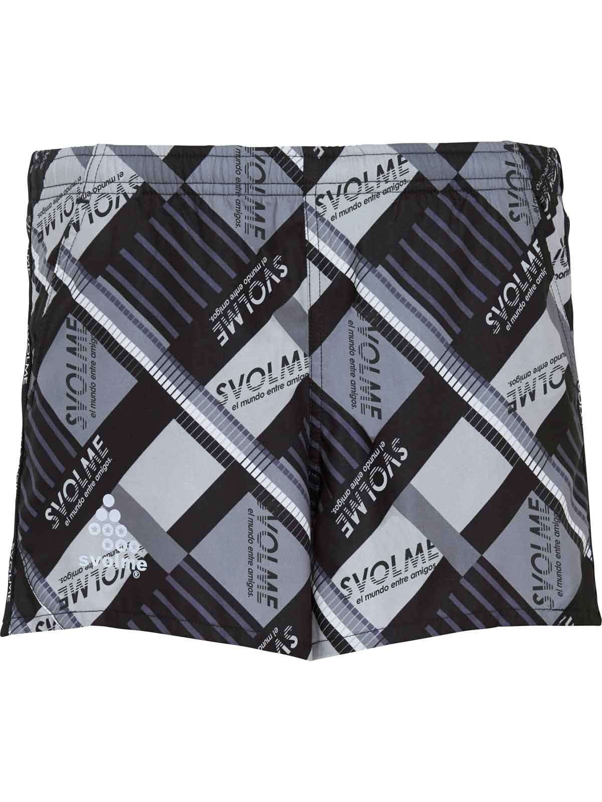 SVOLME  スボルメ Ws(ウィメンズ)クレイジーパターンランパン BLACK*GY(ブラック×グレ-)7201-07102