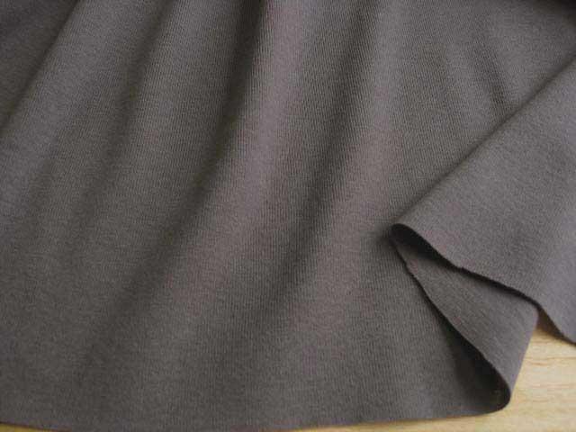 J&B定番 綿コーマ糸フライスニット チャコールグレー#97 NTM-1095