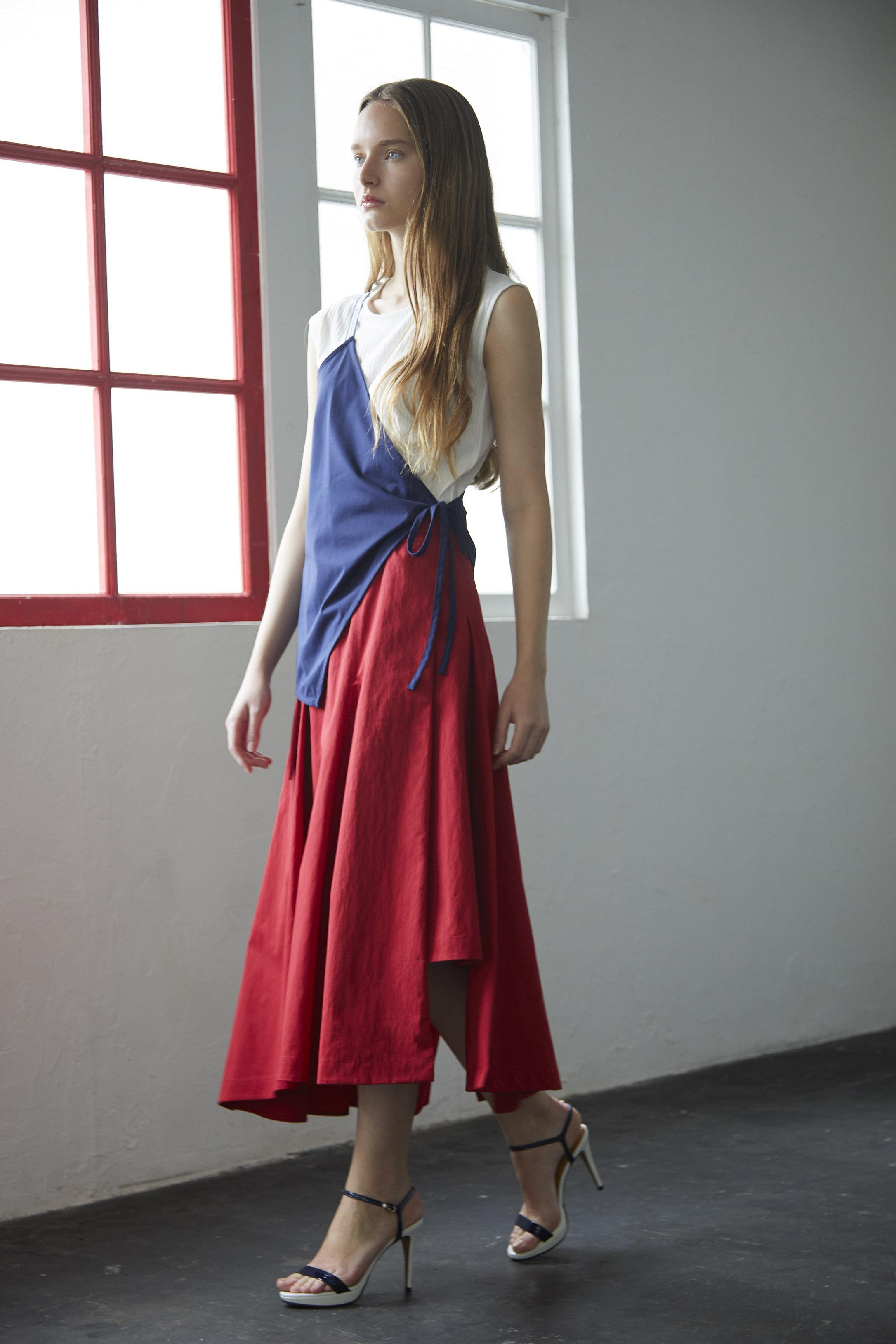 【2021SS先行受注アイテム】WEATHER CLOTH ASYMMETRY SKIRT