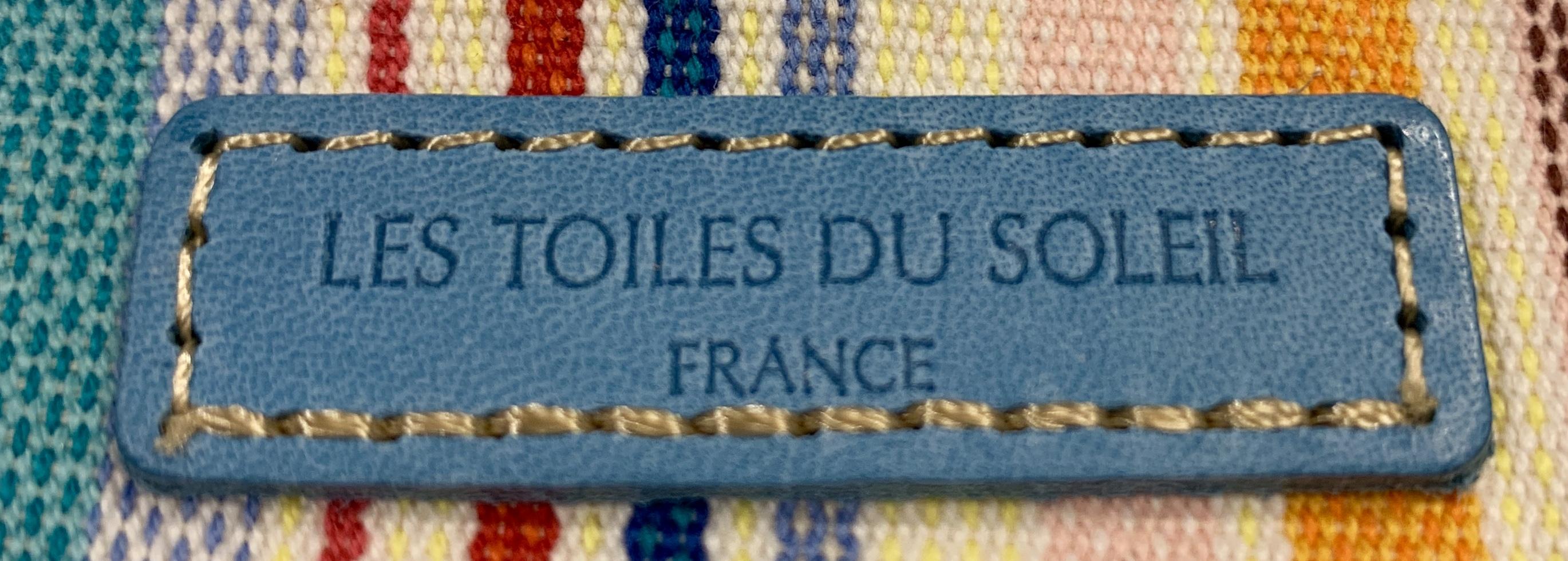 【LES TOILES DU SOLEIL】レザーミニウォレット Vieira Blanc Jaune ブルー