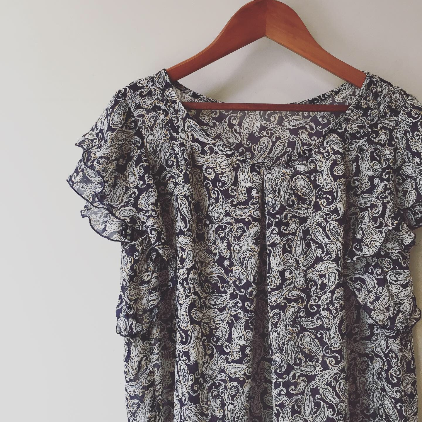 vintage paisley design sheer tops