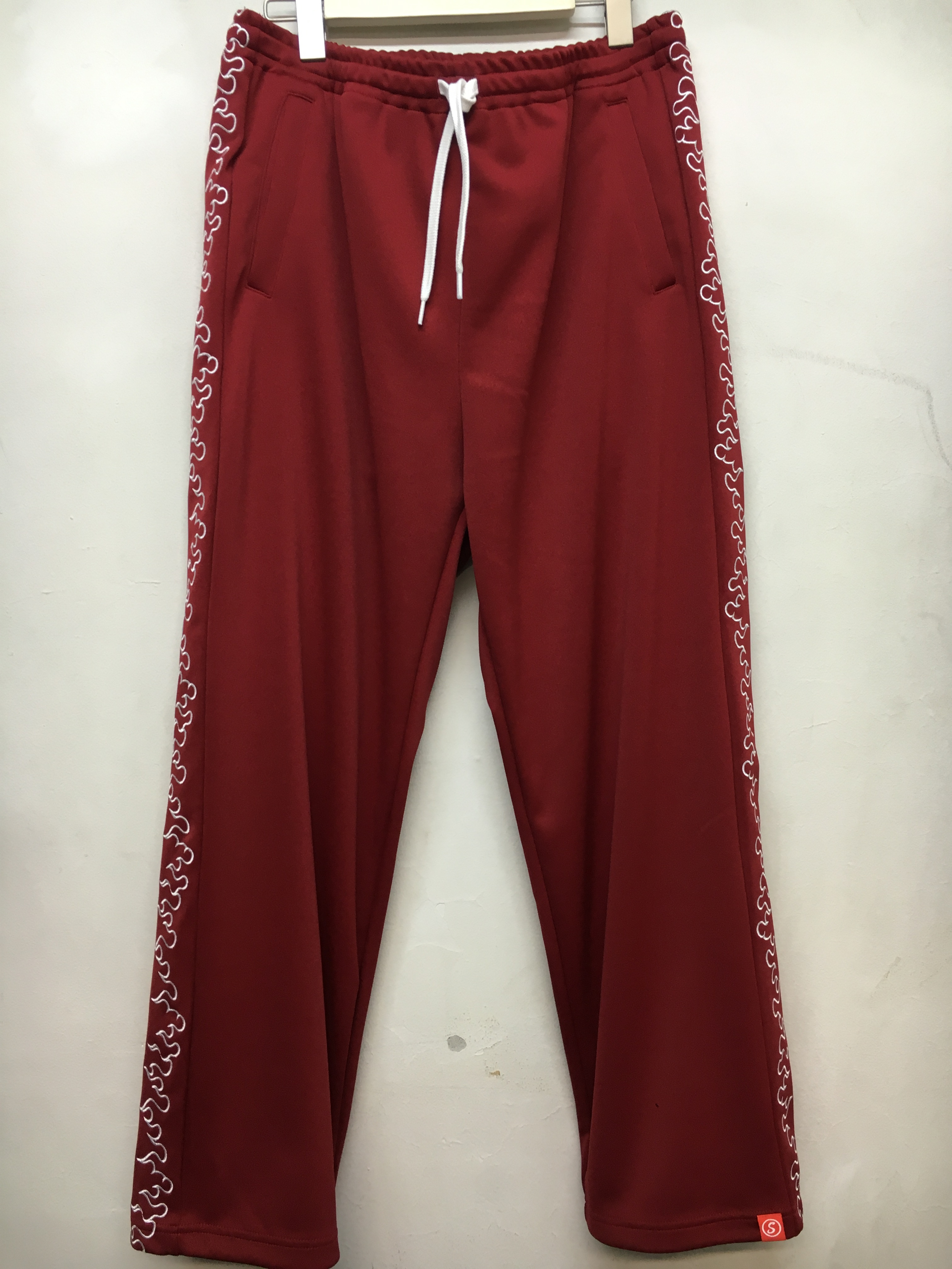 SKIN / FIRE TRACK PANTS -red - 画像1