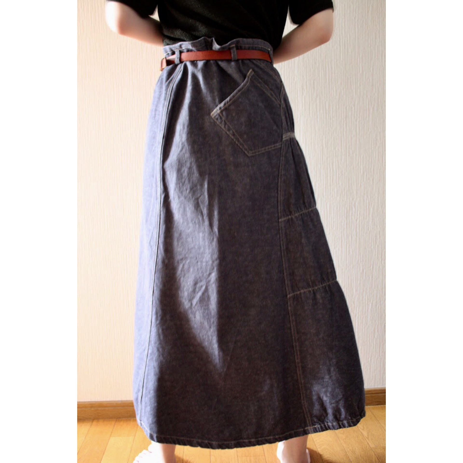 Vintage denim skirt by Marithé François Girbaud