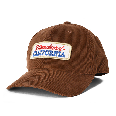 STANDARD CALIFORNIA #SD Logo Patch Corduroy Cap Beige