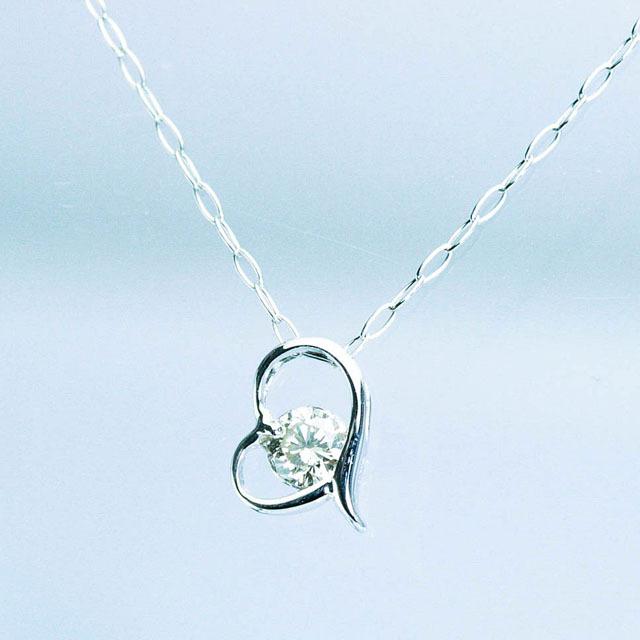 ハートデザインダイヤモンドペンダント プラチナ900