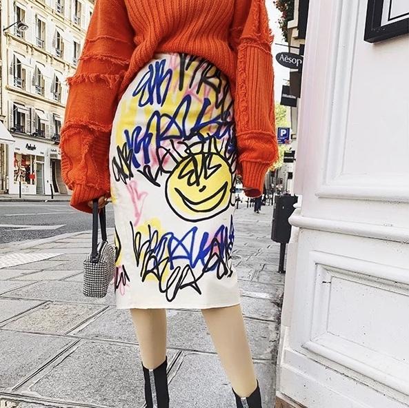 unique paint skirt
