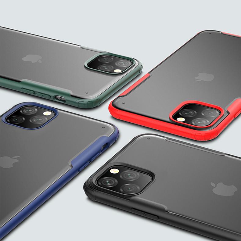 【お取り寄せ商品、送料無料】3カラー シンプルカラー マット ハード iPhoneケース iPhone11