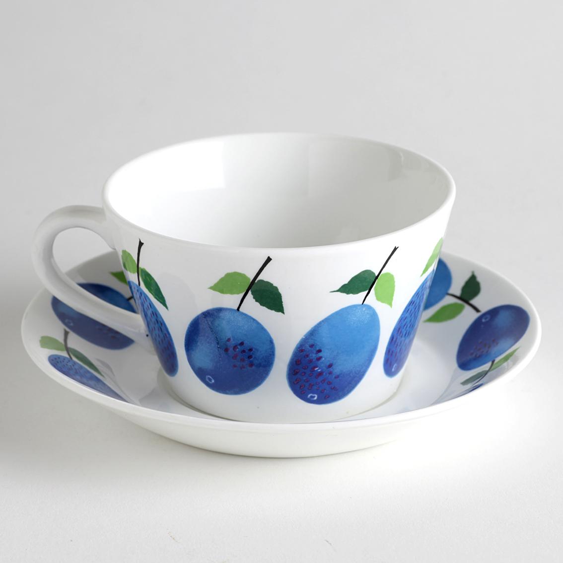 Gustavsberg グスタフスベリ Prunus プルーヌス ティーカップ&ソーサー-2 北欧ヴィンテージ
