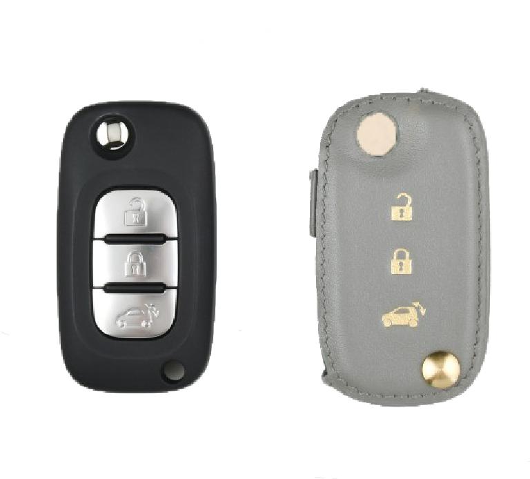 Benz Smart 専用 TypeD Car Key Case Shrink Leather Case
