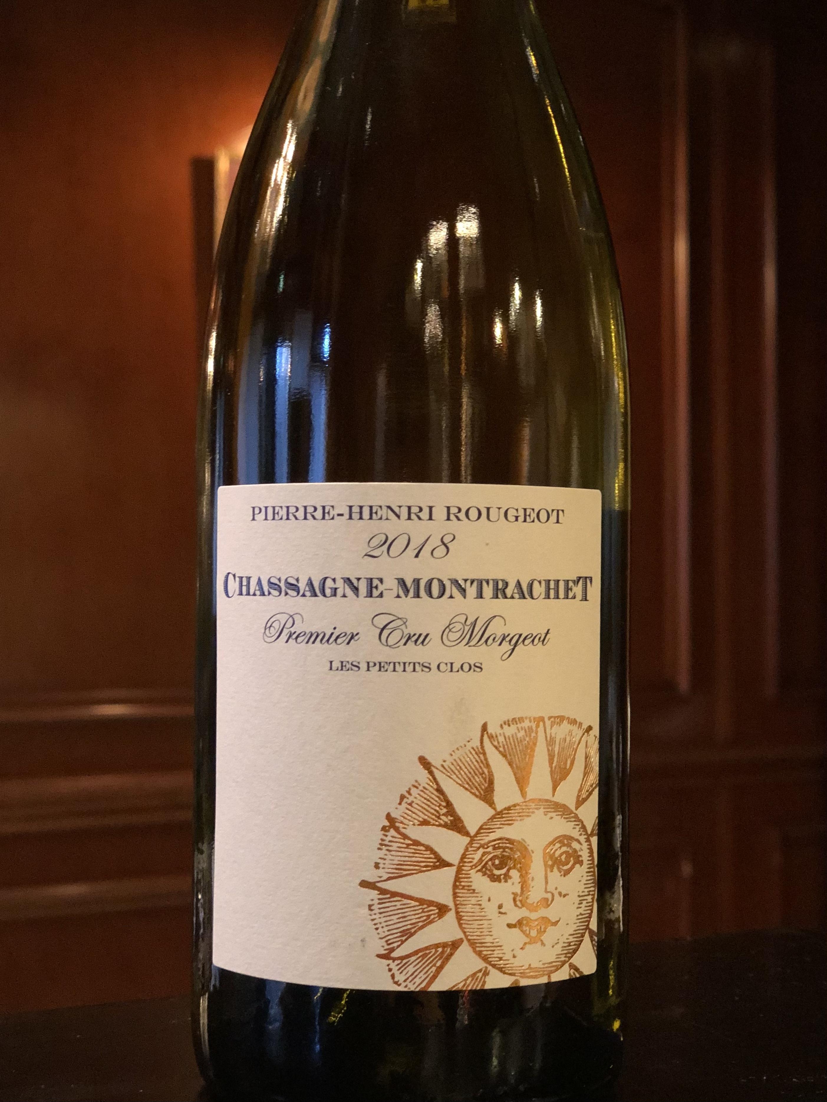 2018年 シャサーニュモンラッシェ プルミエクリュ モルジョPierre Henri Rougeot 白ワイン