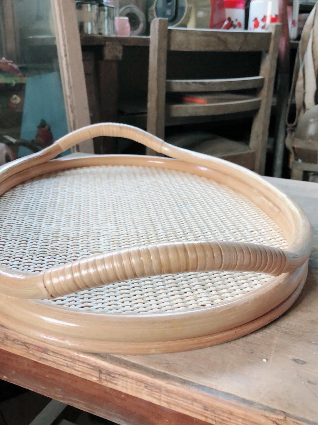 籐製トレイ