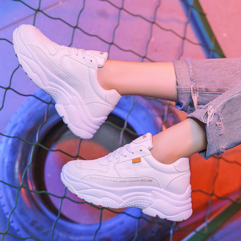 【shoes】簡約・シンプルPU無地厚底スニーカー16376586