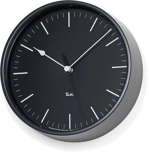 タカタレムノス RIKI STEEL CLOCK 電波時計 ブラック WR08-24 BK