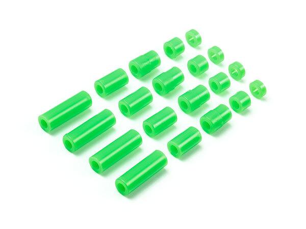 軽量スペーサーセット(12/6.7/6/3/1,5mm)蛍光グリーン