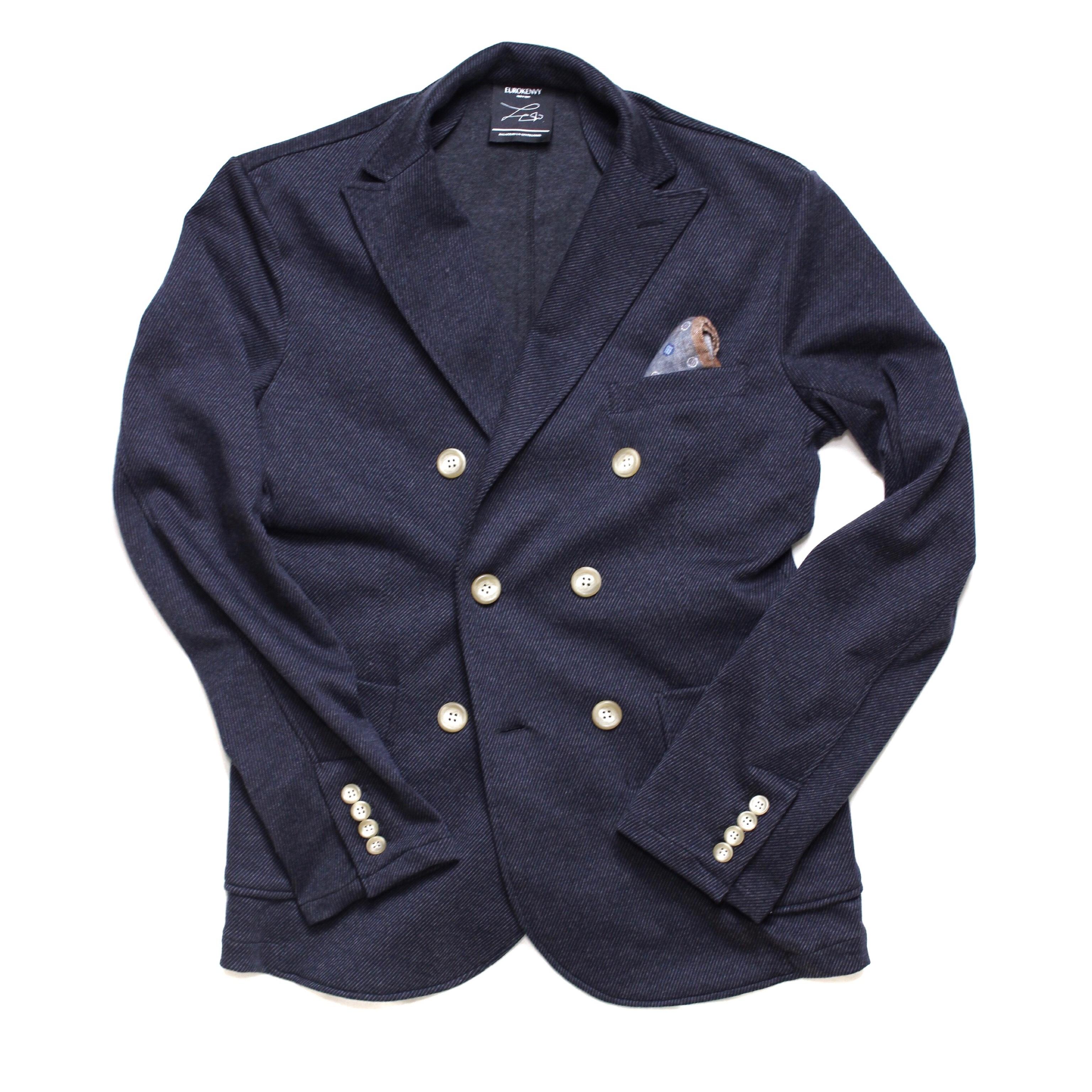 soft jersey double jacket NAVY (ソフトジャージーダブルジャケット)