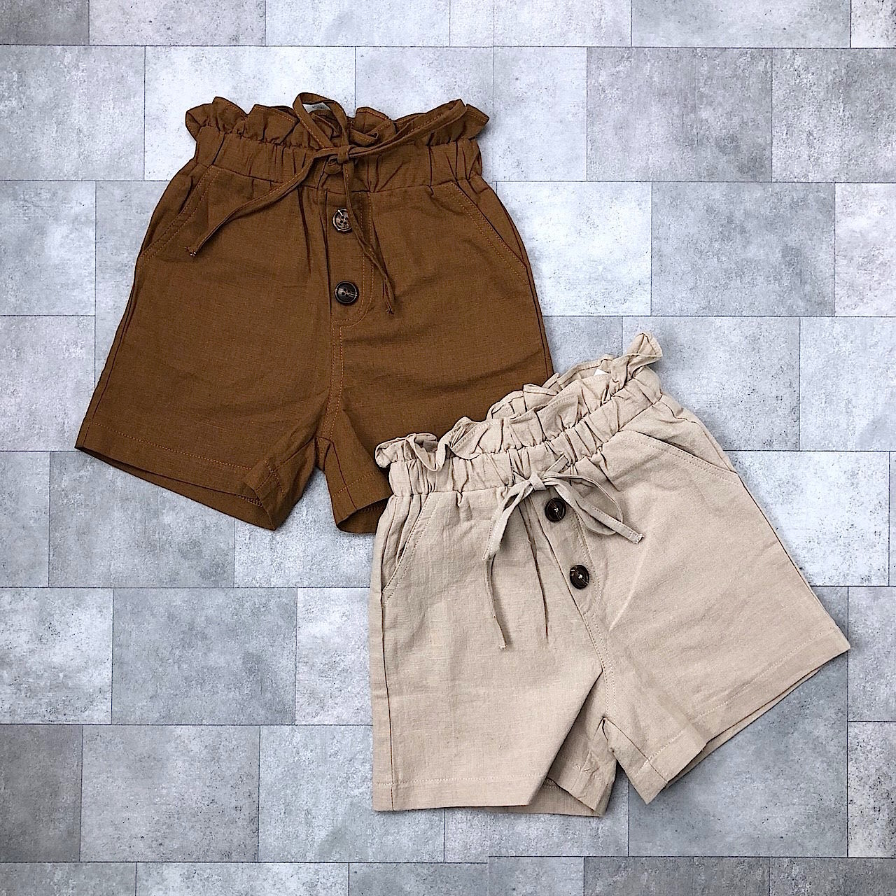 ハイウエストフリルショートパンツ(2カラー)no.805061 #子供服 #子ども服 #男の子 #女の子 #ボトム