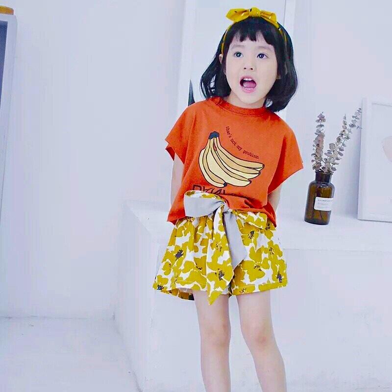 バナナロゴカットソー レッド【674】