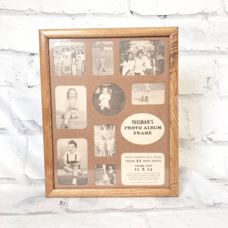 品番0179 ファミリー フォト アルバム フレーム 11×14サイズ 木製フレーム 011