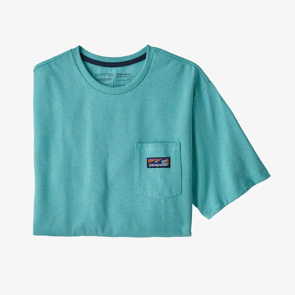 パタゴニア PATAGONIA Tシャツ 半袖 メンズ  ボードショーツ ラベル ポケット レスポンシビリティー 38510 Iggy Blue【正規取扱店】