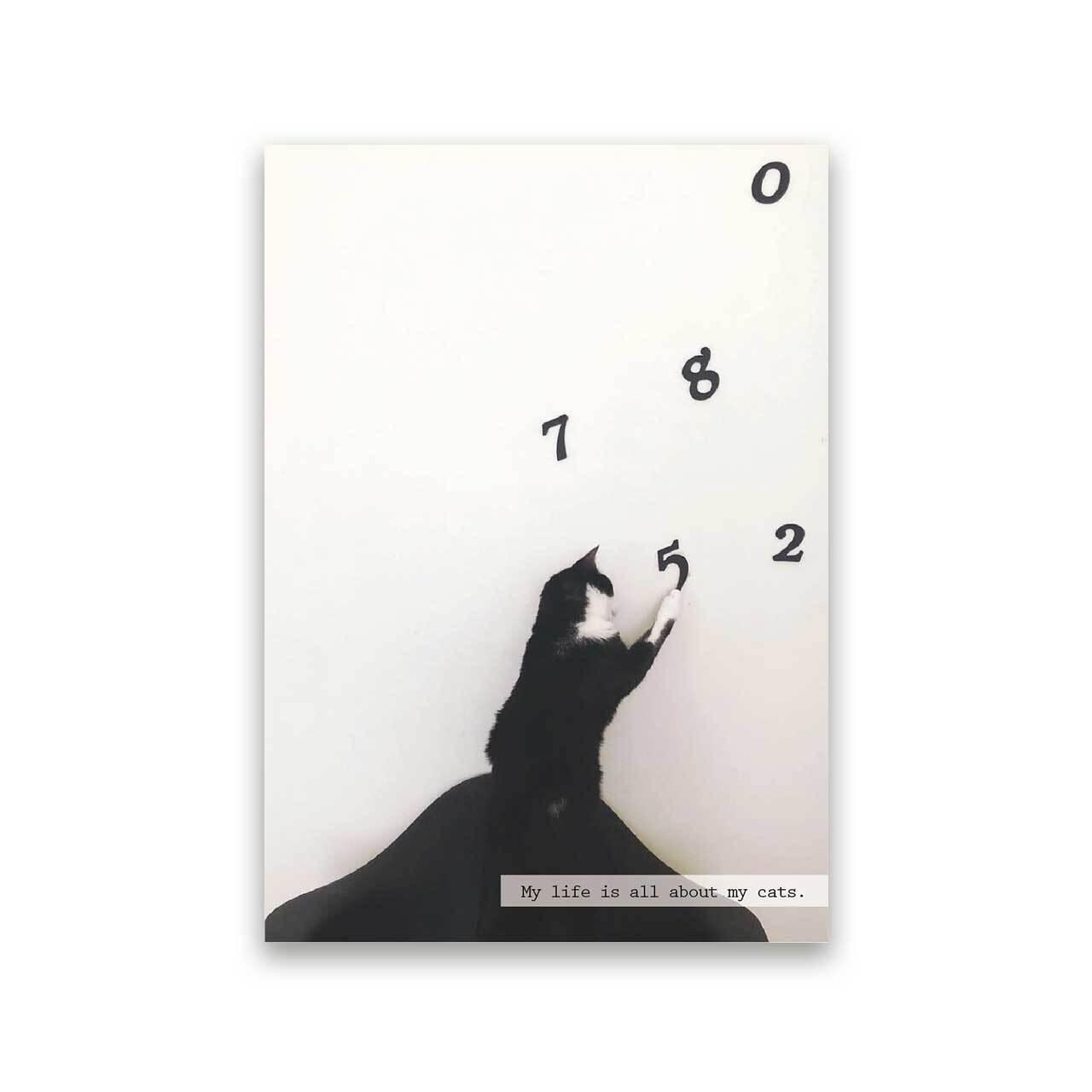 好きな写真でつくるフォトポスター「1shot cat」(縦)