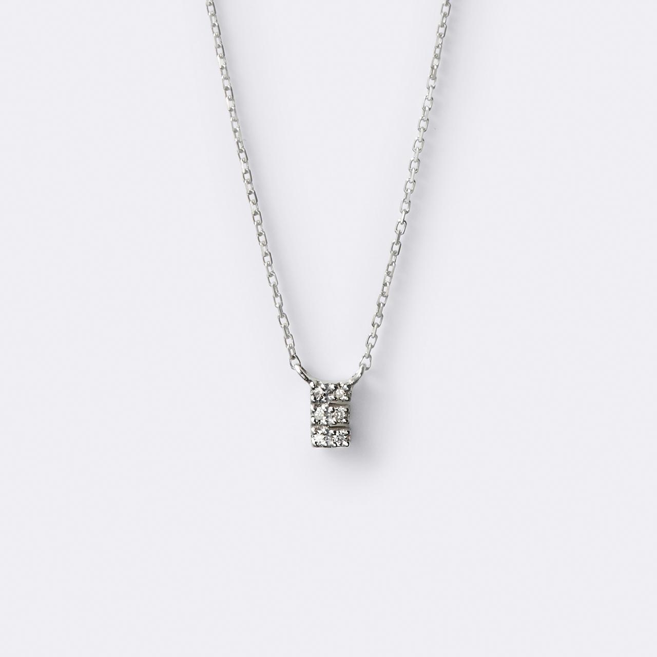 Initial Diamond Necklace K10WG(イニシャルダイヤモンドネックレス K10ホワイトゴールド)