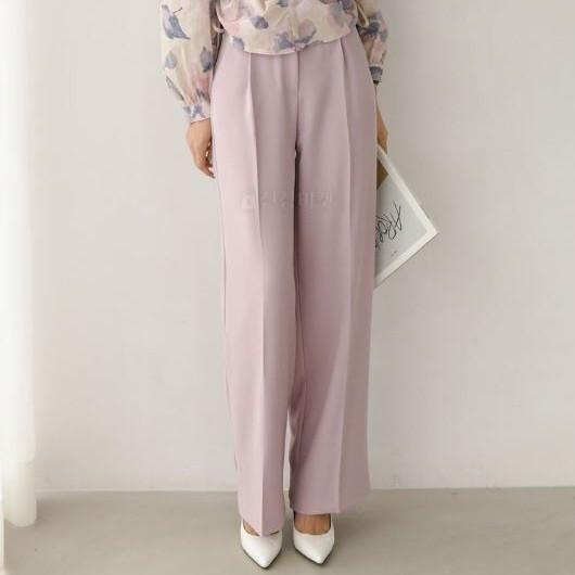 【送料無料】 きれいめスタイルに♡ 大人可愛い フェミニン フロントプレス ストレート テーパード パンツ ズボン