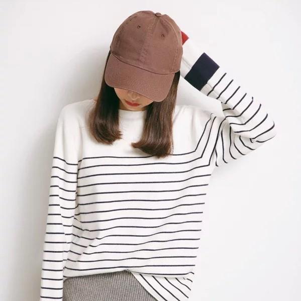 パネルボーダーシャツ・ホワイト