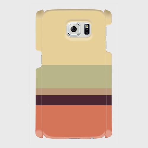 レトロストライプ(薄黄・薄緑・薄茶・紺・赤)/ Androidスマホケース(ハードケース)